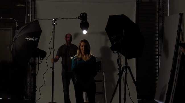 Mark demonstrates other light modifiers, like this snoot.
