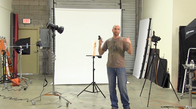Stunt pig drops in for a demo on how to get a solid white background in your photos.