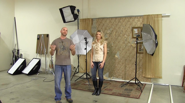 We switch to speedlights to show a different type of 3-light setup.